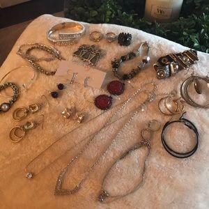 Jewelry - Huge lot Jewelry earrings toe rings bracelets more